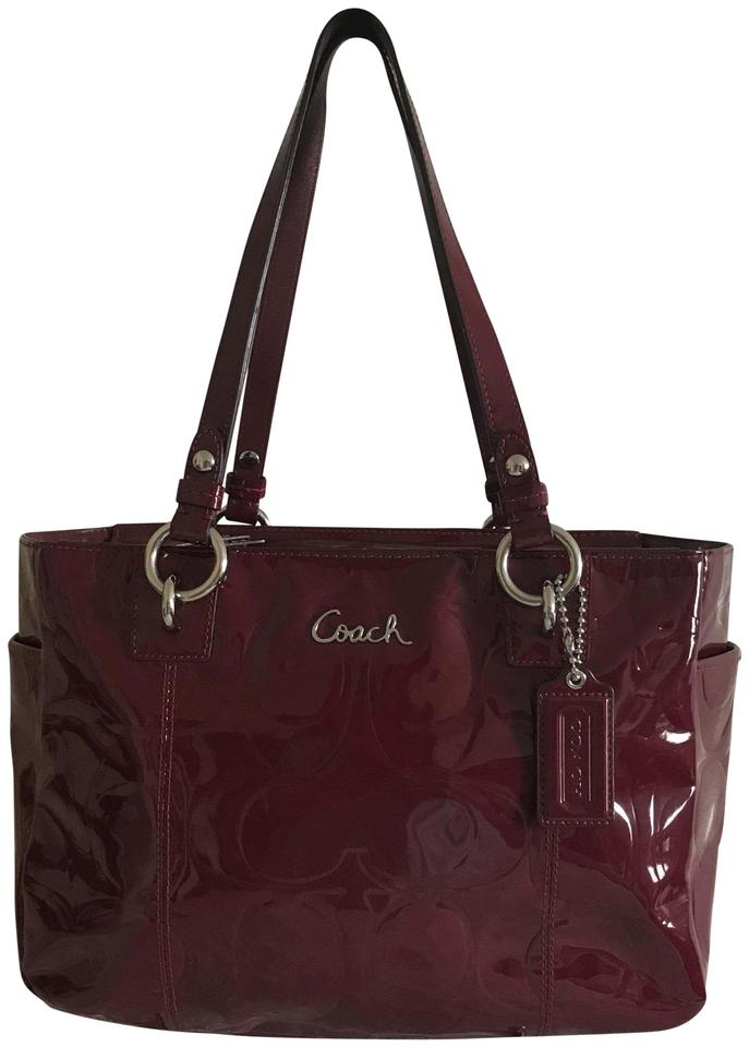 Coach Tote In Deep Crimson