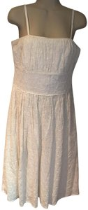 Kenar short dress white Strapless Eyelet Cotton Spaghetti Straps Date Night on Tradesy