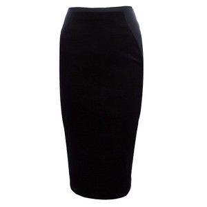 Stella McCartney Black Velvet Paneled Pencil Skirt S
