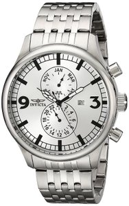 Invicta INVICTA Men's Silver Speciality 48mm Month/Date SS Watch 0366