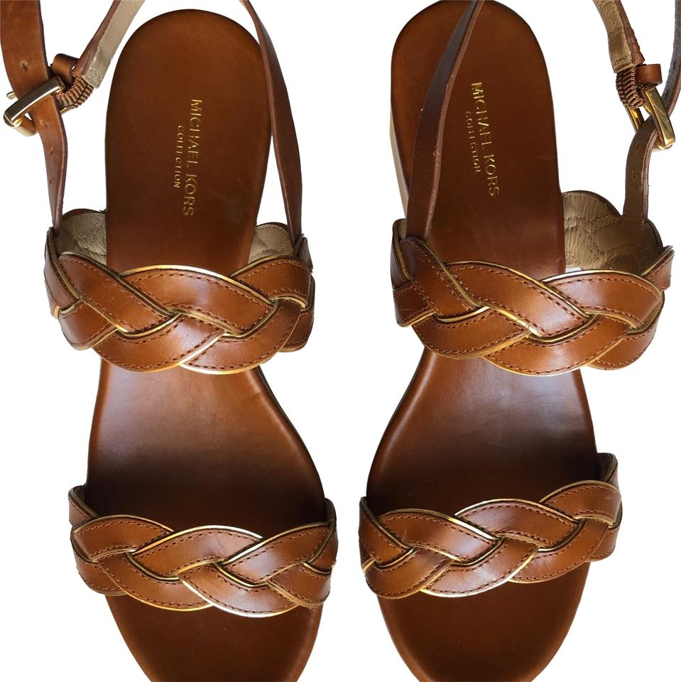 18d068d1d6fb50 Michael Kors Collection Brown - Lugga Smooth Calf Specchio Gabriele Sandals