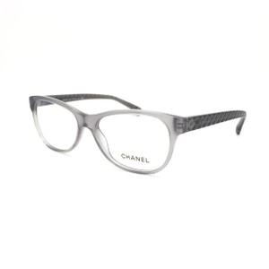 Chanel Transparent Gray Cat Eye Quilted Rx Eyeglasses Frame 3323 1532