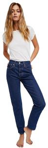 Levi's Wedgie Wedgie High Rise Free People Straight Leg Jeans-Medium Wash