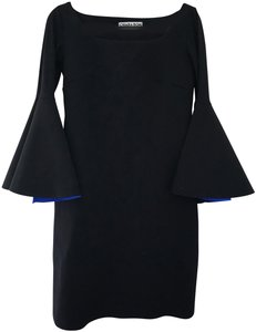 La Petite Robe di Chiara Boni Couture Trumpet Sleeves Bodycon Dress