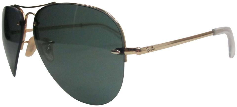 063d0428bb5 Ray-Ban Gold Green Made In Italy Rb3449 001 71 Sunglasses Stb303 Sunglasses