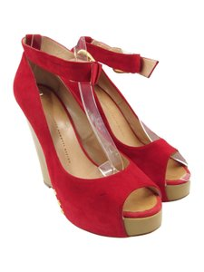 Giuseppe Zanotti Suede red Wedges