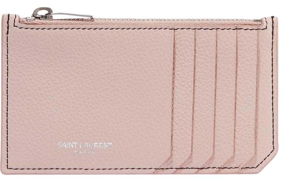 6c0d3180e72 Saint Laurent Pink Ysl Zip Pouch Card Holder Card Case Wallet - Tradesy