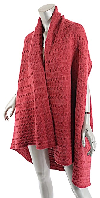 Item - Raspberry Red Cashmere Cable Weave Sweater Vest Cardigan Size 10 (M)