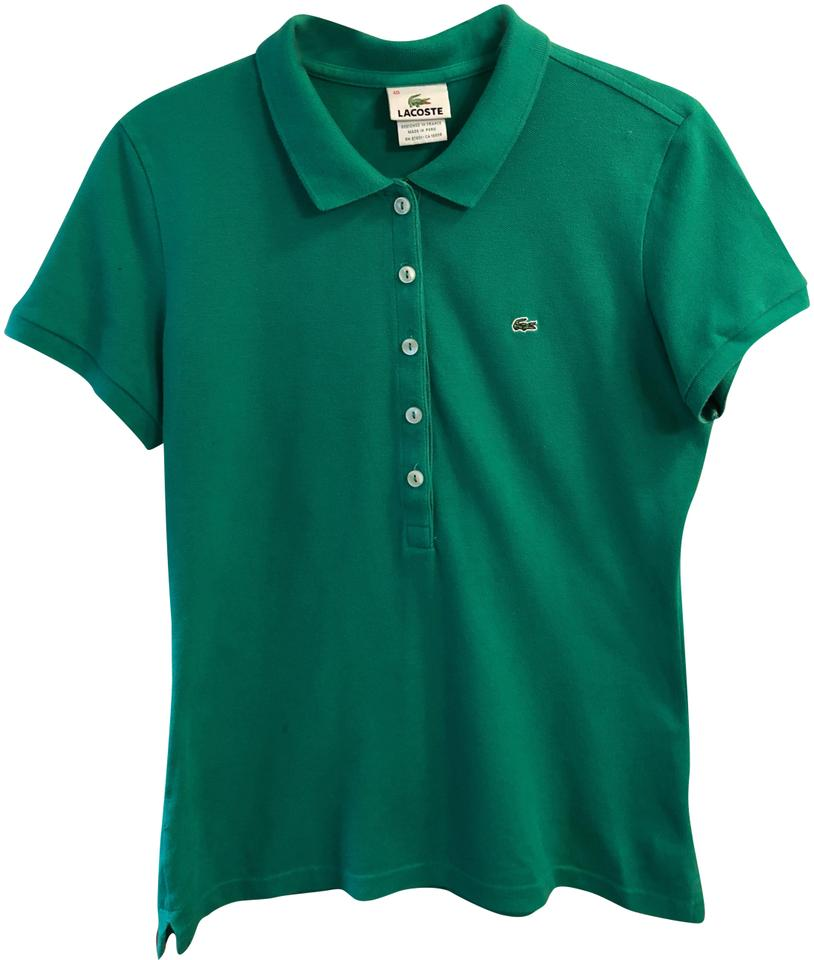 0ac81582c Lacoste Green Classic Fit Soft Cotton Polo Shirt Button-down Top ...