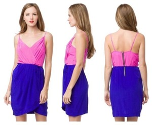 Yumi Kim Color Block Mini Silk Hot Dress