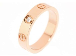 Cartier Cartier Love Wedding Band Rose Gold with One Diamond