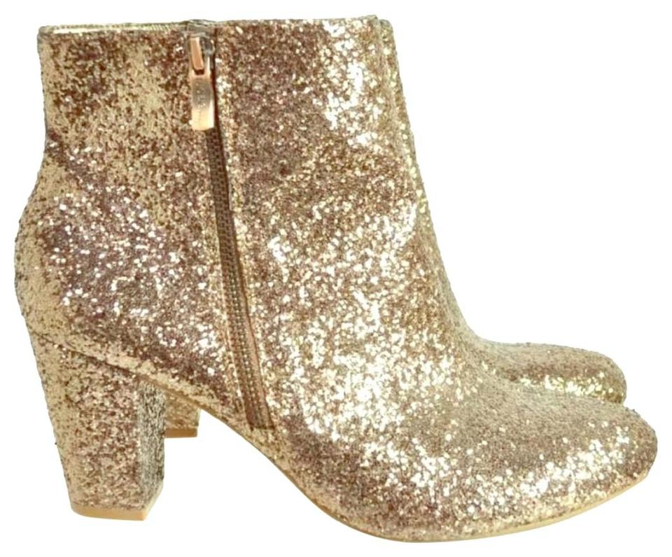 BCBGeneration Rose Rose BCBGeneration Gold Glitter Ankle Boots/Booties dcd3b8
