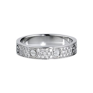 Cartier LOVE WEDDING BAND, DIAMOND-PAVED WHITE GOLD Ring