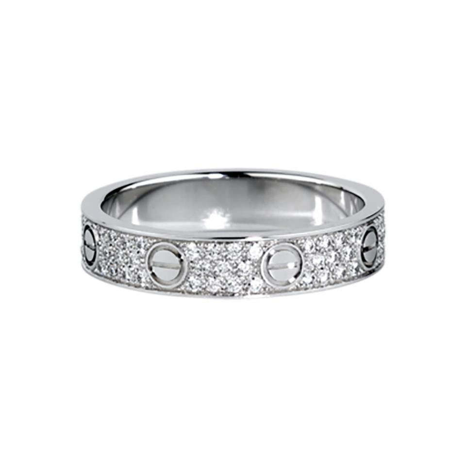Cartier Love Wedding Band Diamond-paved White Gold Ring