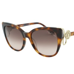 Roberto Cavalli New 2018 Giannutri Rc-1063 52f Women Cat-eye Monogram Sunglasses