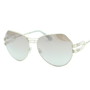 Roberto Cavalli New 2018 Giglio Rc-1064 Women Rounded Metal Mirrored Sunglasses