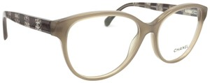 Chanel Tan Lace Cat Eye Rx Eyeglasses Frame 3292 1416