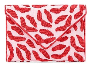 From St Xavier pink and red Clutch