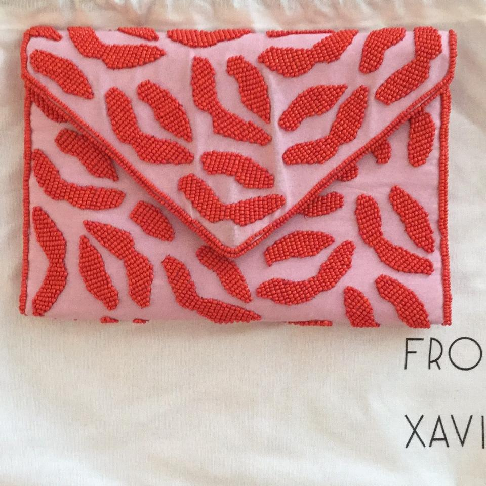 Smooch Pink and Red Beaded Clutch - Tradesy