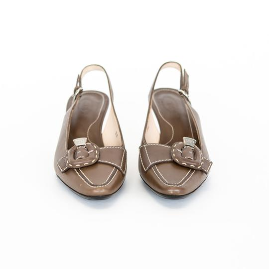 Tod's Leather Slingback Brown Pumps Image 2