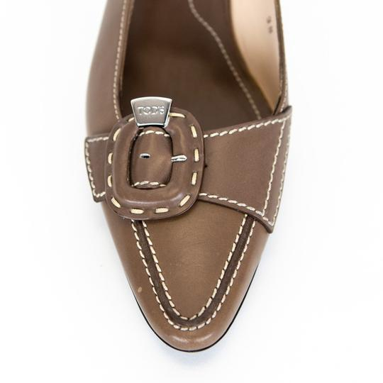 Tod's Leather Slingback Brown Pumps Image 5