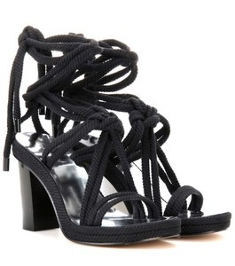 Isabel Marant Drop Waist Metallic Black Sandals