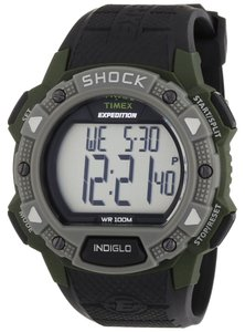 Timex Timex Male Rugged Shock Watch T49897 Silver Digital