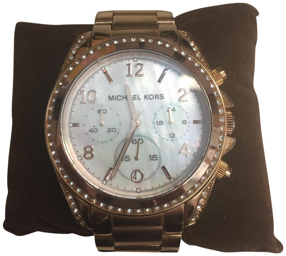 8fa7f1fa94df Michael Kors Rose Gold Band Mother Of Pearl Face Mk-5522 Watch - Tradesy