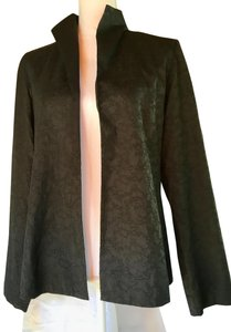Eileen Fisher Classic Timeless Silk Silk Lining Side Black Jacket