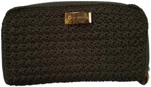 Liz Claiborne Liz Claiborne single zipper crochet black wallet
