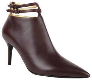 Bottega Veneta Women Leather Ankle Dark Mahogany Boots