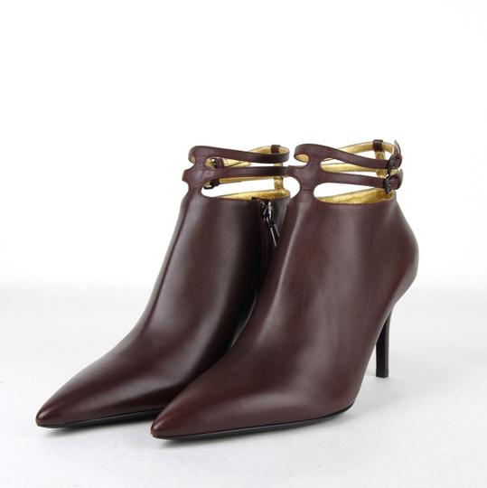 Bottega Veneta Women Leather Ankle Dark Mahogany Boots Image 1