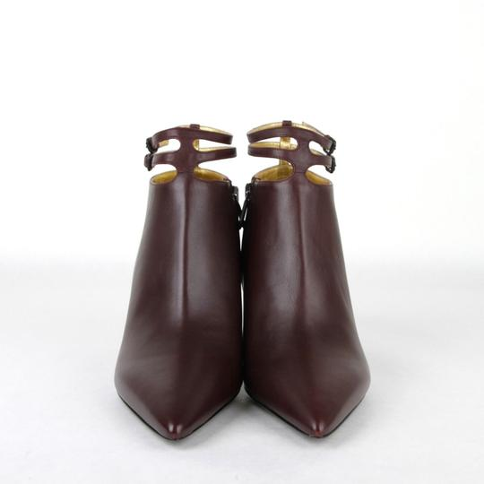 Bottega Veneta Women Leather Ankle Dark Mahogany Boots Image 2