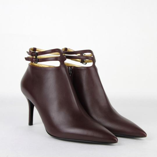 Bottega Veneta Women Leather Ankle Dark Mahogany Boots Image 3