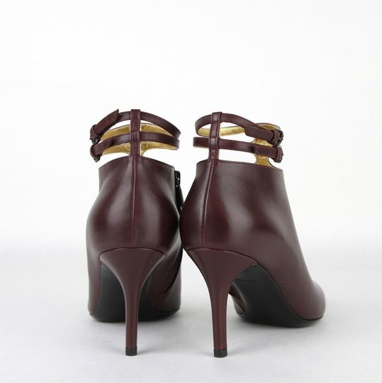 Bottega Veneta Women Leather Ankle Dark Mahogany Boots Image 4