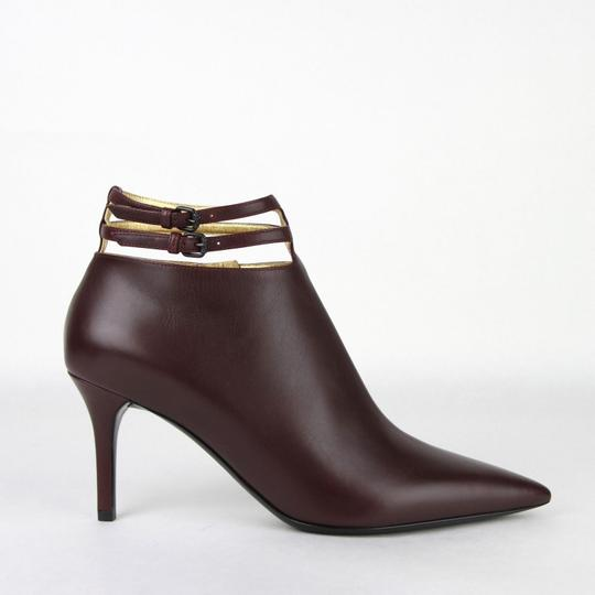 Bottega Veneta Women Leather Ankle Dark Mahogany Boots Image 5