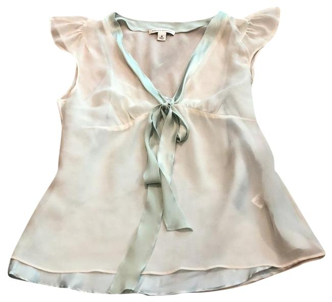 Item - Ivory with Mint Green Details Layered Cami Sheer Layer Tunic Size 8 (M)
