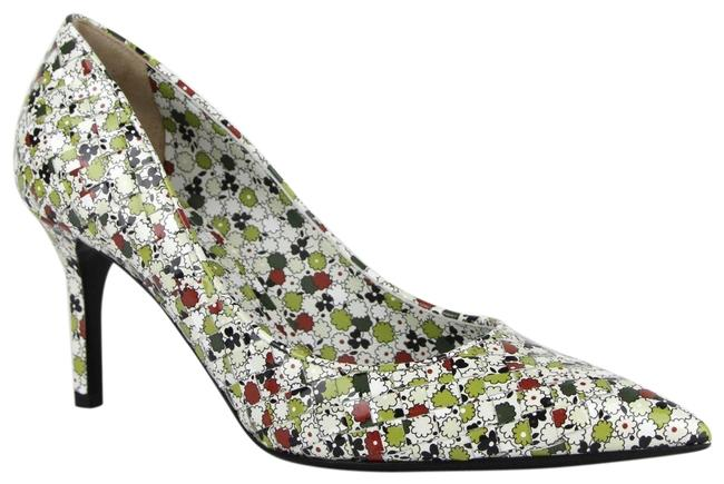 Item - Green/Red Green/Red Woven Leather Floral Heels It 39.5/Us 9.5 430538 8403 Pumps Size EU 39.5 (Approx. US 9.5) Regular (M, B)