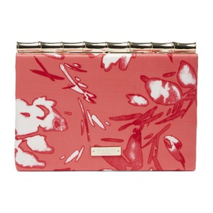 Kate Spade Pink Leather Coral Clutch