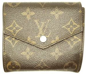Louis Vuitton Square Monogram Double sided Flap Wallet trifold