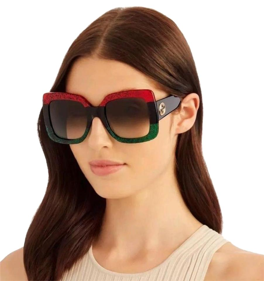 35948d98e97 Gucci Red Black Green Gg0083s 001 - New Sunglasses - Tradesy