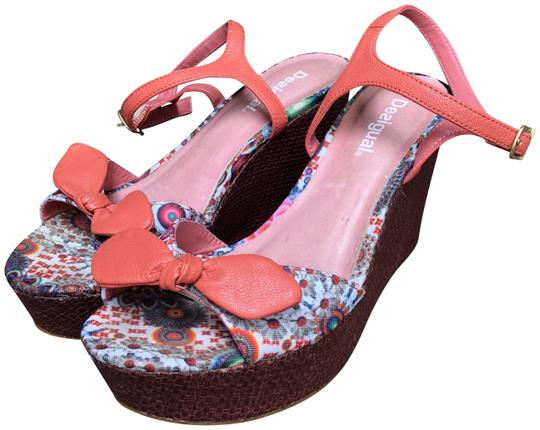 Preload https://img-static.tradesy.com/item/23524412/desigual-multicolored-leather-lined-canvas-wedge-sandals-size-eu-37-approx-us-7-regular-m-b-0-1-540-540.jpg