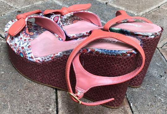 Desigual Fully Lined Leather Wedge Heel Height 3.75