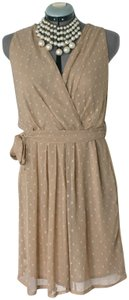 Mlle Gabrielle short dress Beige Polka Dot Sheer Sundress Aline on Tradesy