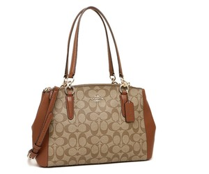 Coach Madison 36718 Christie Carryall Satchel in saddle khaki