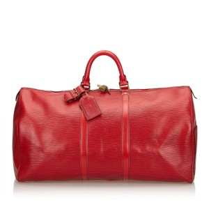 Louis Vuitton Epi Leather Carry-on Red Travel Bag