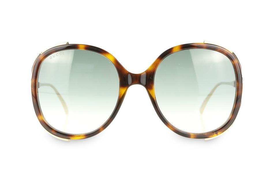 706f2a972ca Gucci Brown Round Frame Injected Sunglasses - Tradesy