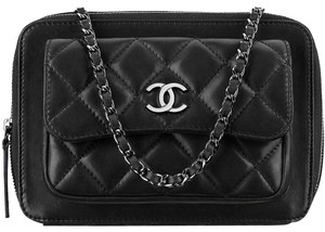 992ea74e2890fb Chanel Camera Quilted Pocket Box Classic Flap Patent Leather Cross Body Bag