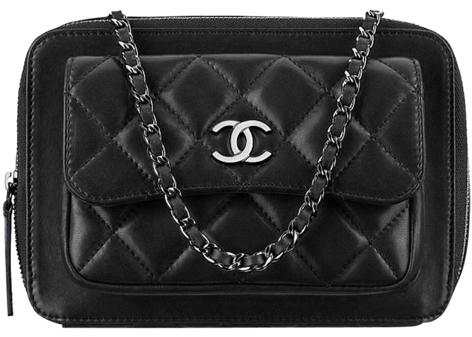 Chanel Camera Pocket Box Case Quilted Classic Timeless Flap Mini Cc Shoulder  Black Patent Leather Cross Body Bag 6eccaffcbbd86