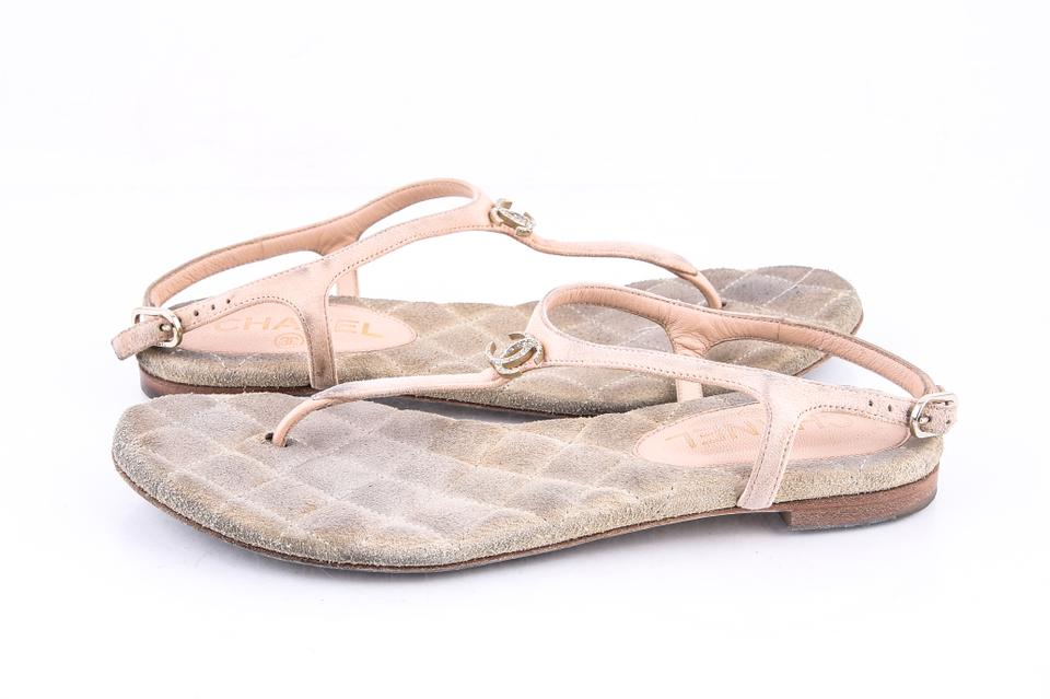 6764658331e Chanel Pink Thongs Kid Suede Light Sandals Size EU 36.5 (Approx. US ...